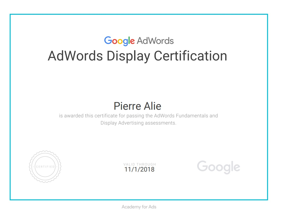 Google Display Certification