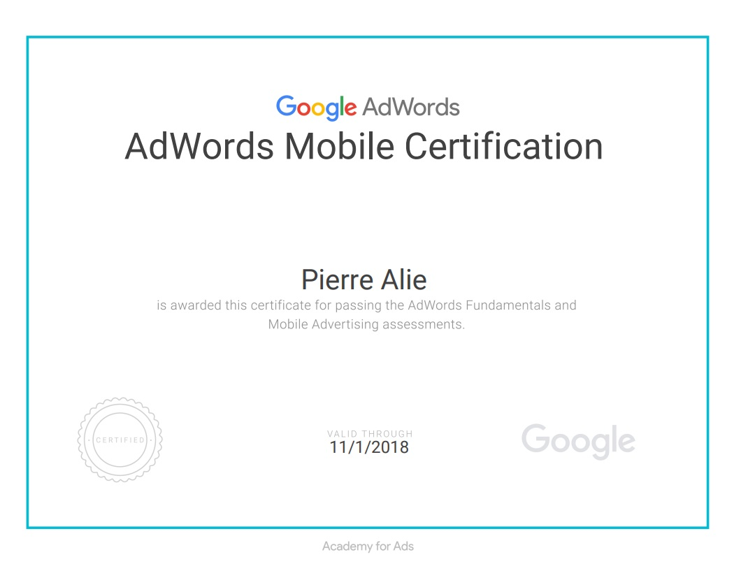 Google Mobile Certification