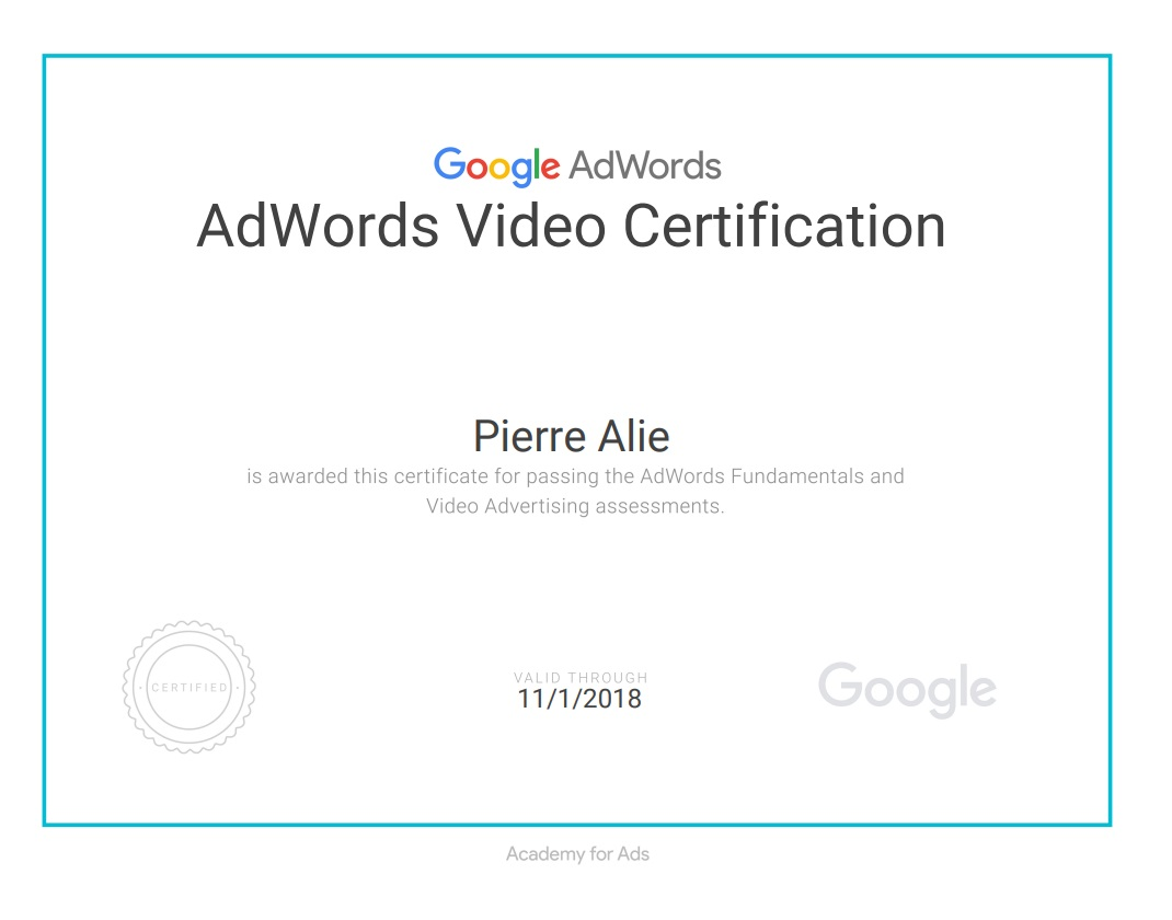 Google Video Certification